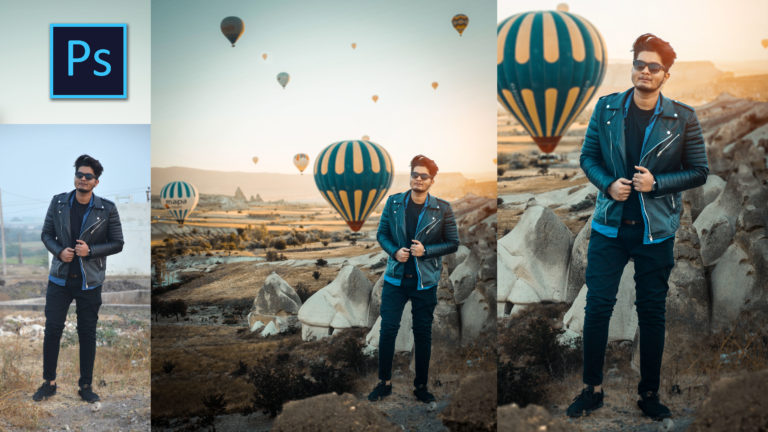 Turkey Hot Air Balloon | Realistic Photo Manipulation in Photoshop for Instagram