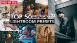 Download Free TOP 50 LIGHTROOM XMP CAMERA RAW PRESETS OF 2021 | 50 XMP Presets of 2021 | 50 iPhone Presets of 2021 for Free