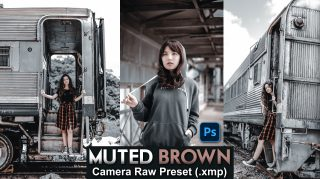 Download Free Muted Brown Camera Raw Presets of 2020 | Muted Brown Photoshop Preset of 2020 | How to Edit Like Muted Brown