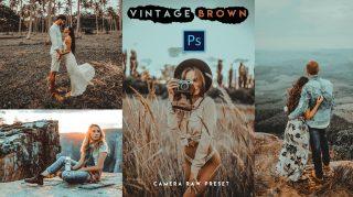 Download Free Vintage Brown Camera Raw Presets of 2020   Vintage Brown Photoshop Preset of 2020   How to Edit Like Vintage Brown