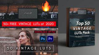 Download Top 50 Vintage LUTs of 2020 for Free | VINTAGE LUTs PACK OF 2020 ZIP FILE FREE DOWNLOAD | How to Install LUTs in Photoshop | How to Install LUTs in Premiere Pro