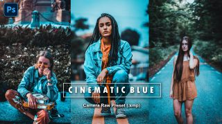 Download Free Cinematic Blue Camera Raw Presets of 2020 | Cinematic Blue Photoshop Preset of 2020 | How to Edit Like Cinematic Blue