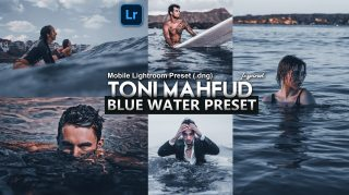 Download Free Toni Mahfud Inspired Blue Water Mobile Lightroom DNG Presets of 2020 | How to Edit Like Toni Mahfud Inspired Blue Water