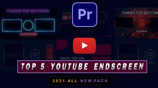 Top 5 YouTube Endscreens Templates of 2021 for Premiere Pro You Must Have | Free Zip File | Best Endscreen for Youtube
