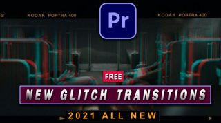 Download Free Best Glitch Transitions Pack of 2021 for Premiere Pro