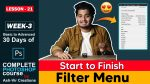 Lesson-21 (Introduction to Filter Menu) How to Use Filter Menu in Photoshop Complete Course by ashvircreations